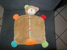 doudou plat ours marron brun orange TOPOLINO Family idem BABYSUN