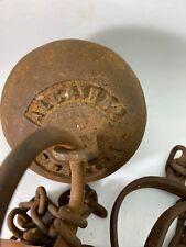 Alcatraz Prison Ball and Chain Cast Iron with Rusty Antique Finish