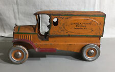 EARLY TIN FRICTION TOY DELIVERY VAN / DANIEL FRANTZ FURNITURE, LEBANON, PA