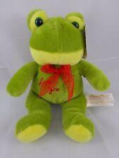 """Dan Dee Green Frog Plush Earthrite Save Our Earth 9"""" Love You Stuffed Animal"""