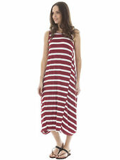 Plus Size Viscose Striped Casual Dresses for Women