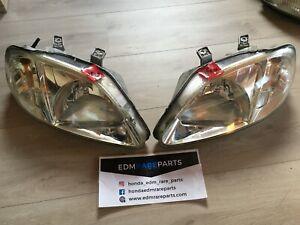 Honda Civic 1999-2000 EDM Headlights Clear EK4 EK9 SIR Stanley JDM CTR LHD OEM