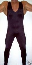 lycra spandex zentai wrestling singlet black Pants S-XXL