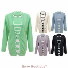 Crew Neck Long Sleeve Twinsets Jumpers & Cardigans for Women