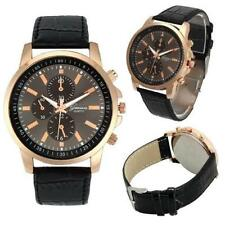 Ladies Fashion Rose Gold Geneva Quartz Black Dial Black Band Wrist Watch(Aussie)