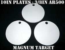 10in. 3/8in. AR500 Hardened Metal Gongs-Steel Shooting Range NRA Pistol Targets