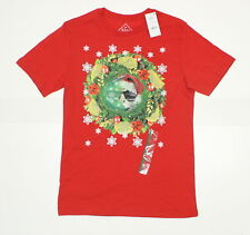 NWT Well Worn Mens Ugly Holiday Cat T-Shirt Tee Red Medium 07124