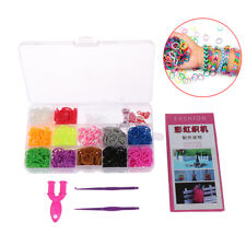 600pcs rubber loom bands girl gift elastic band for diy weaving lacing bracelet*
