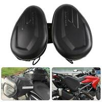 Motorcycle Rear Seat Tail Bags Motorbike Luggage Storage Rider Backpack Black