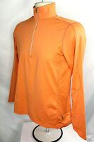 Ralph Lauren RLX Womens S, 1/4 Zip Pullover, Mfg's. Sample, Peach/Orange, NWOT