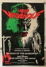 Legend of the werewolf original film poster british