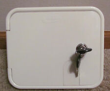 Valterra White Gravity City Water Inlet Fill Dish Hatch Lock RV Trailer SALE