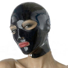 Realistic Black Latex Mask Rubber Unisex Hood with Mouth Unique Wear for Party