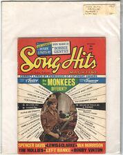 Rare Orig VTG 1967 Song Hits Magazine Monkees Peter Tork Piano Sheet Music Print