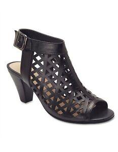 Sandler Women's Sling Back Open Toe Black Bandit Leather Ankle Strap Size 40, 9