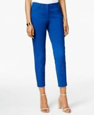 Anne Klein Straight Leg Casual Pants Textured Blue Size 10
