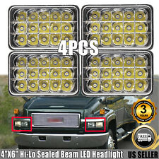 "4x H4652 4""X6"" Square LED Headlight Hi-Lo Beam For GMC TopKick C4500 C5500 Truck"