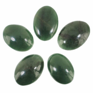 5 Pcs Natural Green Jade Top Quality Rich Green Untreated Gemstones 27mm-29mm