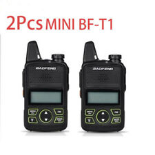 2pcs Walkie Talkie BF-T1 MINI Radio UHF 400-470MHz FM Transceiver+PTT Earpiece L