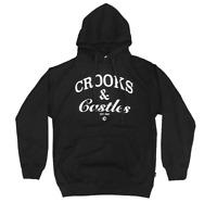 Crooks & Castles OG Timeless Logo Hoodie Black Sweatshirt Mens