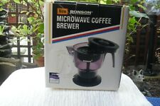 Rare Vintage Ronson Microwave Coffee Brewer Unused Boxed.