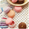 Mini Round Macarons Storage Box Organizer Carrying Case Jewelry Ring NecklaceCcc