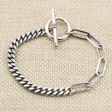 B21 Bracelet 5 MM Chaîne D'Ancre Platte Bascule 16 - 20 CM Sterling Argent 925