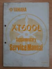 Yamaha XT600L Owners Workshop Supplementary Service Manual