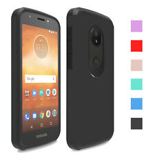 For Motorola Moto E5 Play/Cruise Case Hard Armor Shockproof Rubber Phone Cover