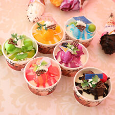 6Pcs Artificial Cup Ice Cream Realistic Food Fake Dessert Photography Props