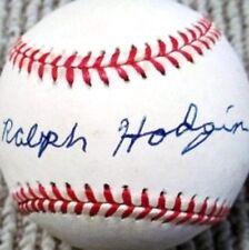 RALPH HODGIN (D.2011) 1939-48 LIFETIME BA .285 SIGNED OAL BASEBALL PSA/DNA