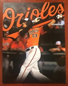 2013 Baltimore Orioles VS New York Yankees Baseball Scorecard w/ Manny Machado