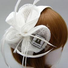 Sinamay Women Fascinator Ladies Blossom Bridal Wedding Hairband | Black Ivory