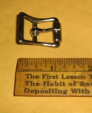"5/8"" Western Belt Buckle D-Shape,Horse Tack, Zinc-Plated Steel, Nickel"