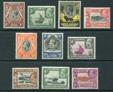 More details for kut 1935 george v short-set of 10 stamps to 2/- sg110-119 mm - dh011