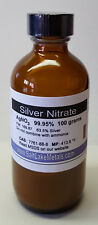Silver Nitrate - 100 grams, 99.95% pure, freshly made