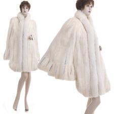 LKNW! Finest Golden Cross Female Mink Fur Ruffled Scalloped 134 in. Swing Ponch