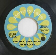 Country 45 Charlie Rich - Behind Closed Doors / I Take It On Home On Epic