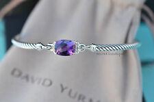 David Yurman Petite Wheaton Bracelet w/ Amethyst & Diamonds Retails $550 (#234)