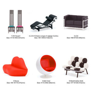 Rare Reac Japan Miniature 1/12 Scale Designer Chairs Vol.4(Each Sell Separately)