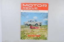Motor Revue Europa Motor Ausgabe 45 Frühjahrsausgabe 1963