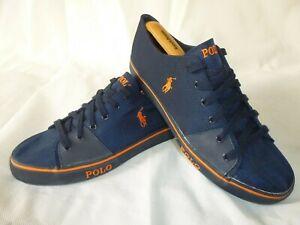 Polo Ralph Lauren Shoes Crofton-NE Blue Low Top Trainers Sneakers UK 10 EU 44