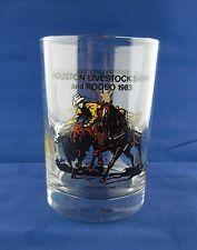 HOUSTON LIVESTOCK SHOW RODEO 1983 Coke MCDONALD'S GLASS clown cattle roping cowb