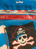 12 Pirate Party Red Stripe Skull Children/'s Loot Favours Gifts Paper Notebooks