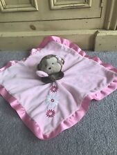 Carters Pink Monkey Comforter Lovey Security Blanket