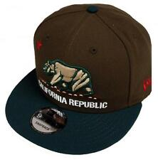 New Era California Republic Walnut Dark Green Snapback Cap 9fifty 950 Limited