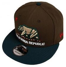 New Era California Republic Walnut Dark Green Snapback Cap 9fifty 950 Limited