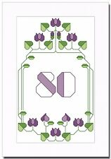 ART DECO BIRTHDAY - ANY AGE - ALL NUMBERS INCLUDED - CROSS STITCH CARD KIT