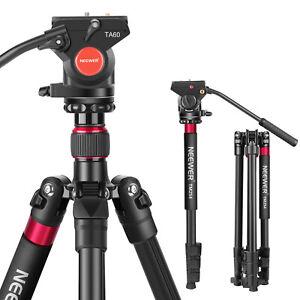 Neewer Aluminum Alloy 2-in-1 DSLR Camera Tripod 180cm with Fluid Drag Pan Head