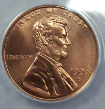 1996-D ANACS MS69RD SUPERB GEM BU LINCOLN CENT 1 OF 3 NONE BETTER 6187532
